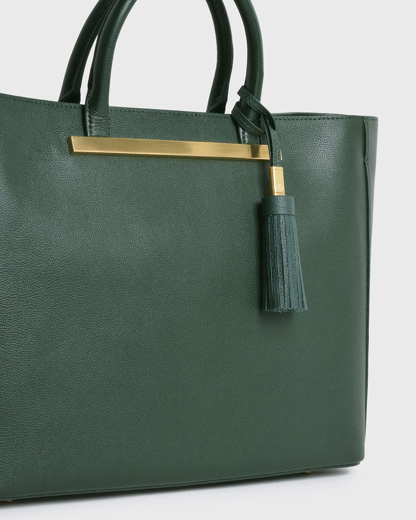 Aimee Leather Tassel (Green)