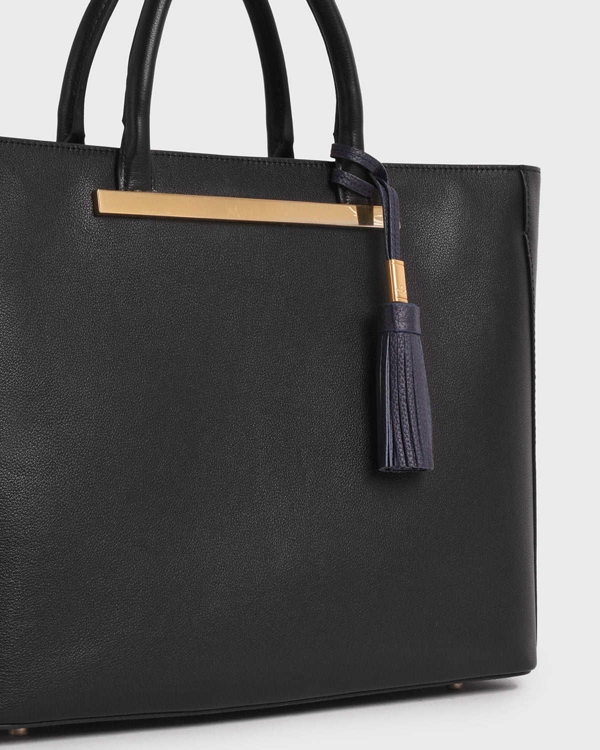Aimee Leather Tassel (Navy)