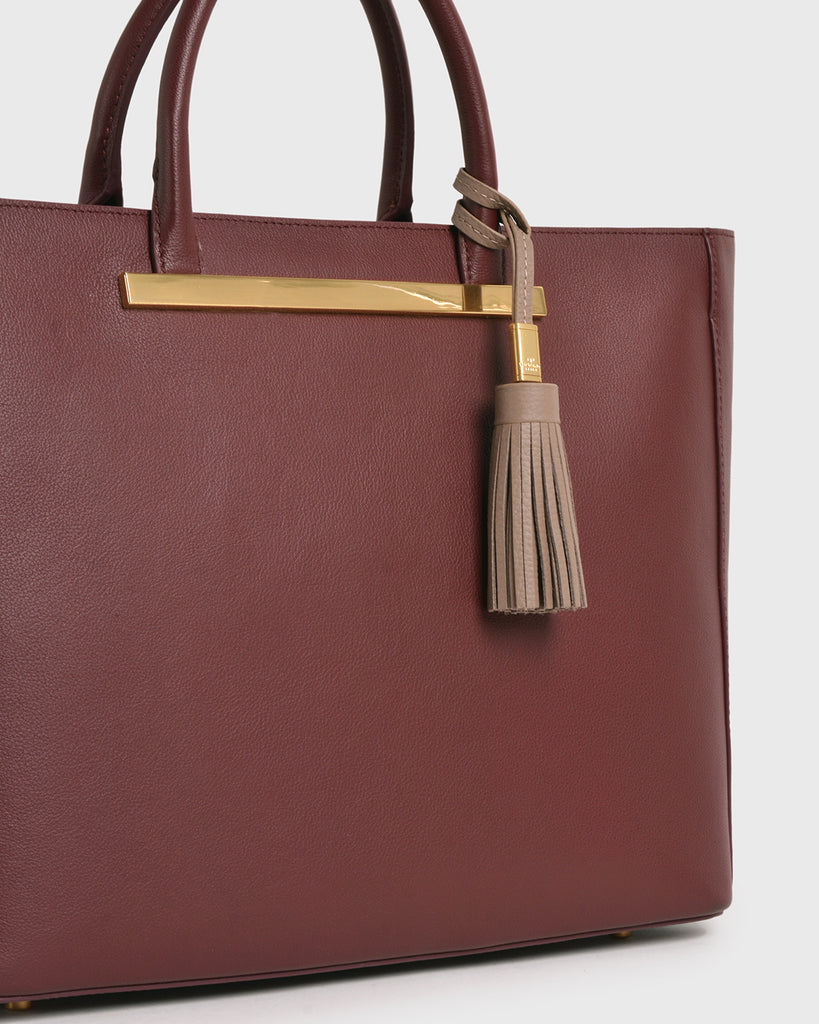 Aimee Leather Tassel (Grey)
