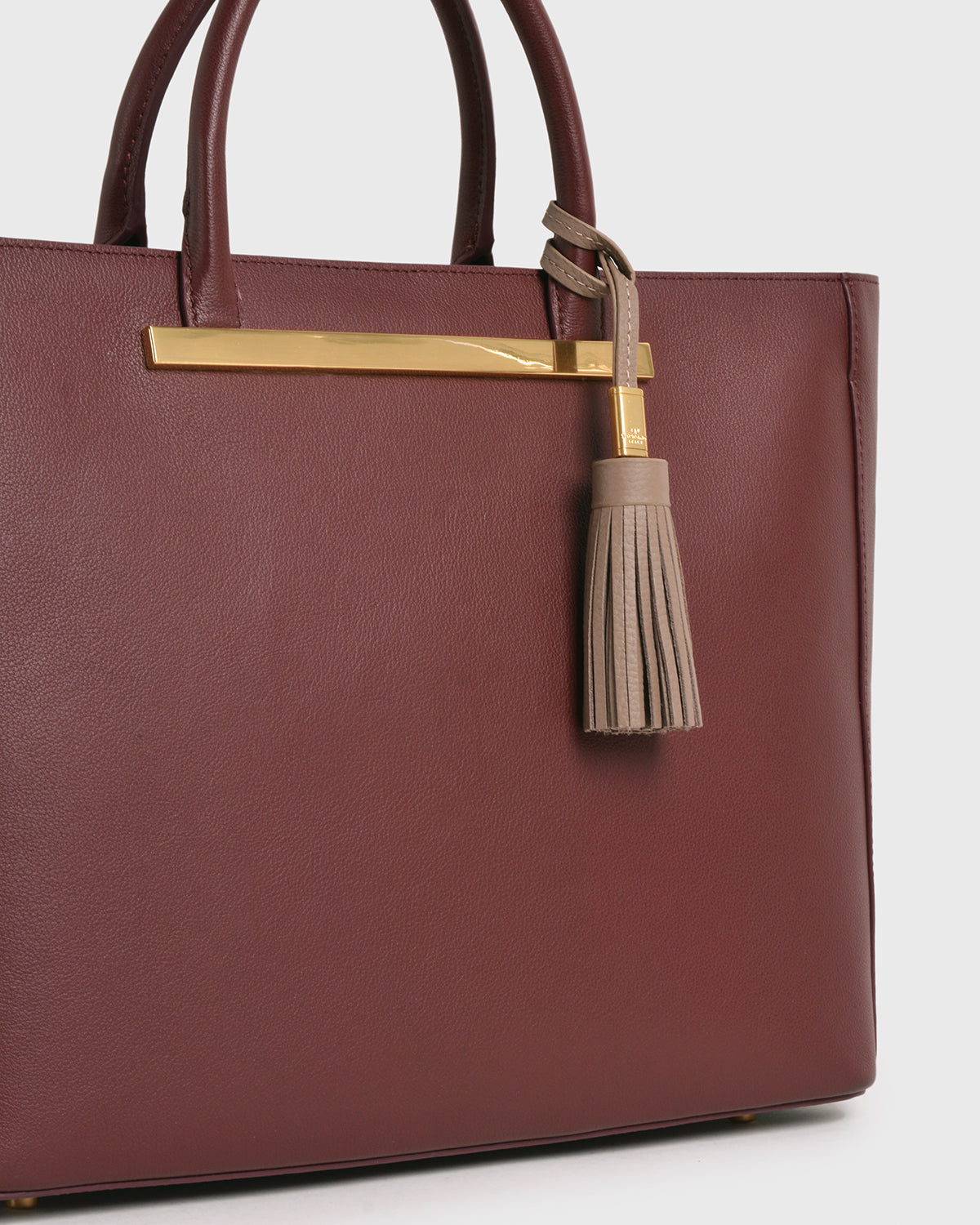 Aimee Leather Tassel (Dusty pink)