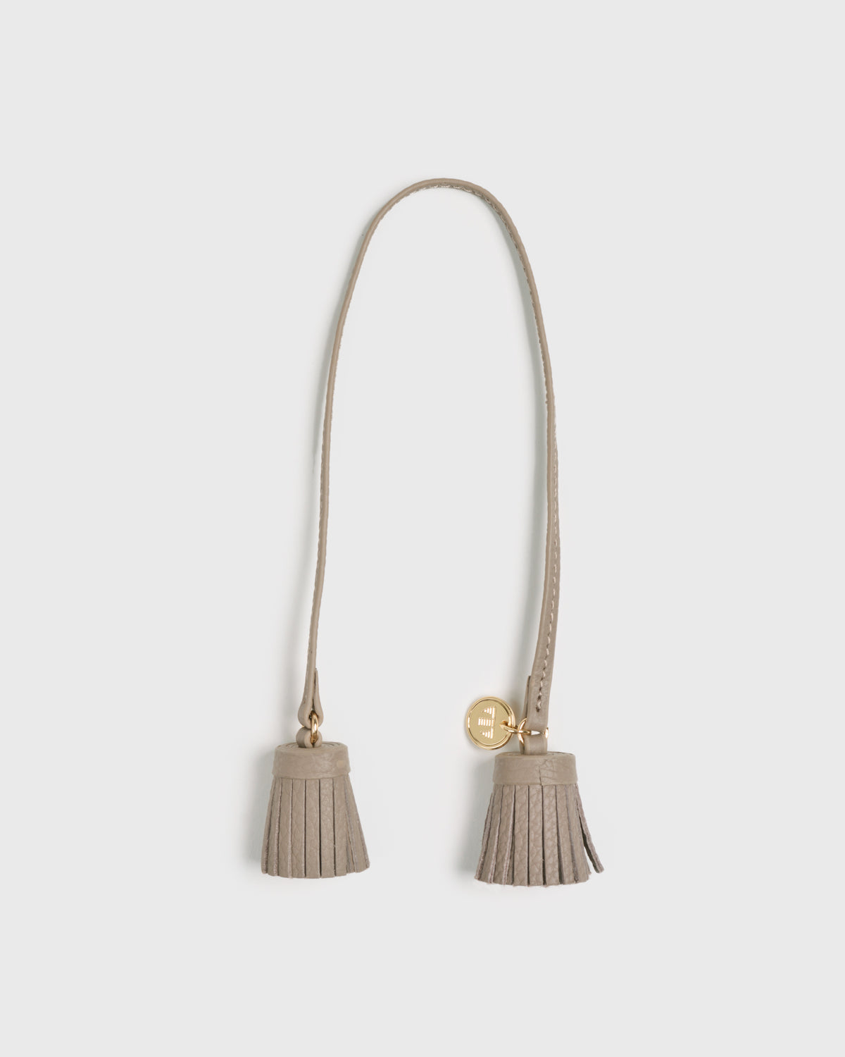 Aimee Leather Twin Tassel (Grey)
