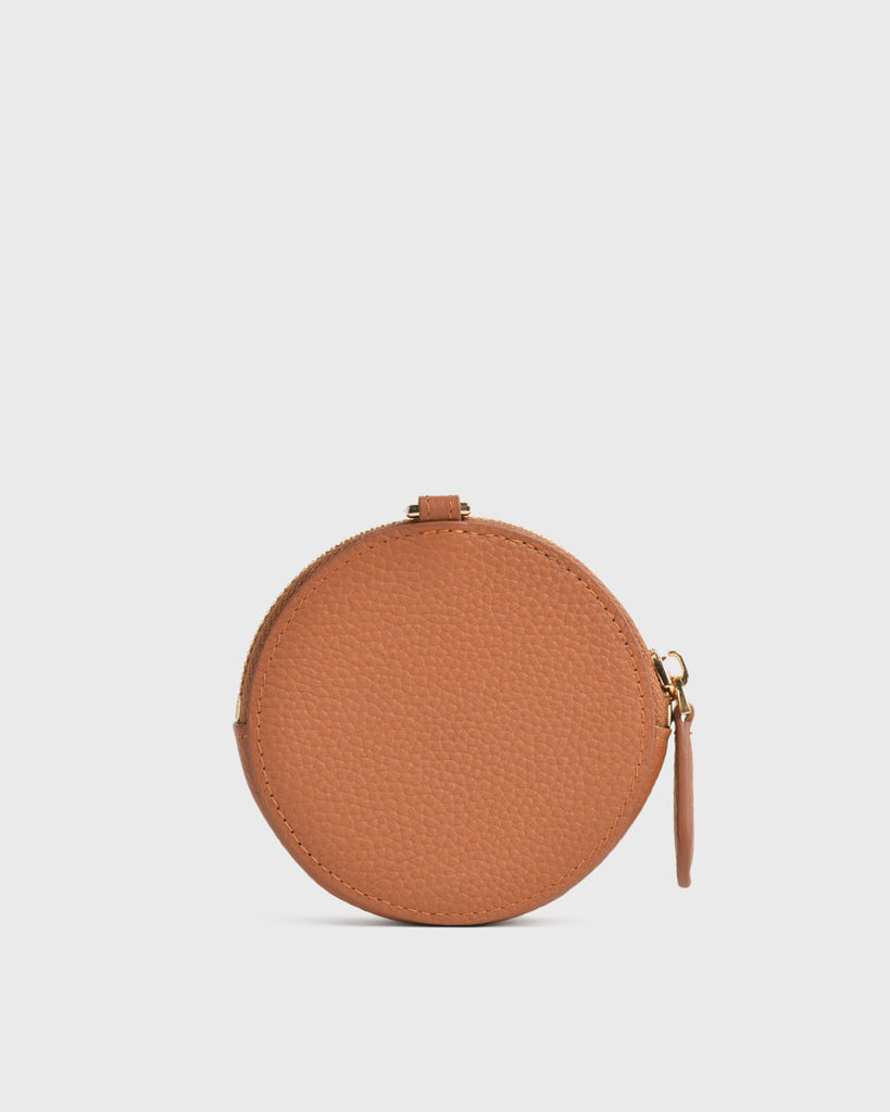 Aimee Round Coin Pouch (Camel)