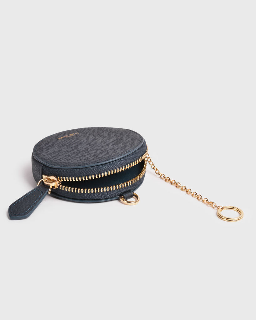Aimee Round Coin Pouch (Navy)