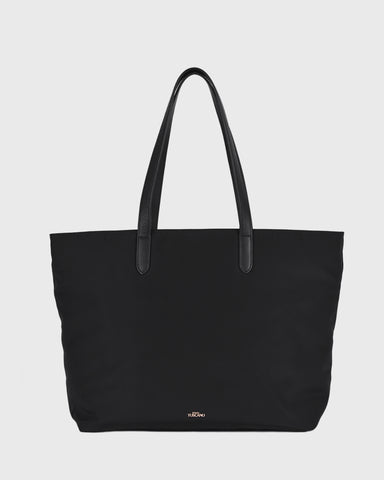 Aimee Leather Tote (Black)