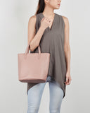 Aimee Mini Leather Tote (Dusty Pink)
