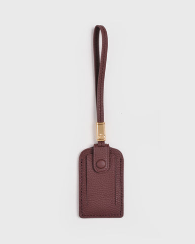 Aimee Leather Tassel (Burgundy)