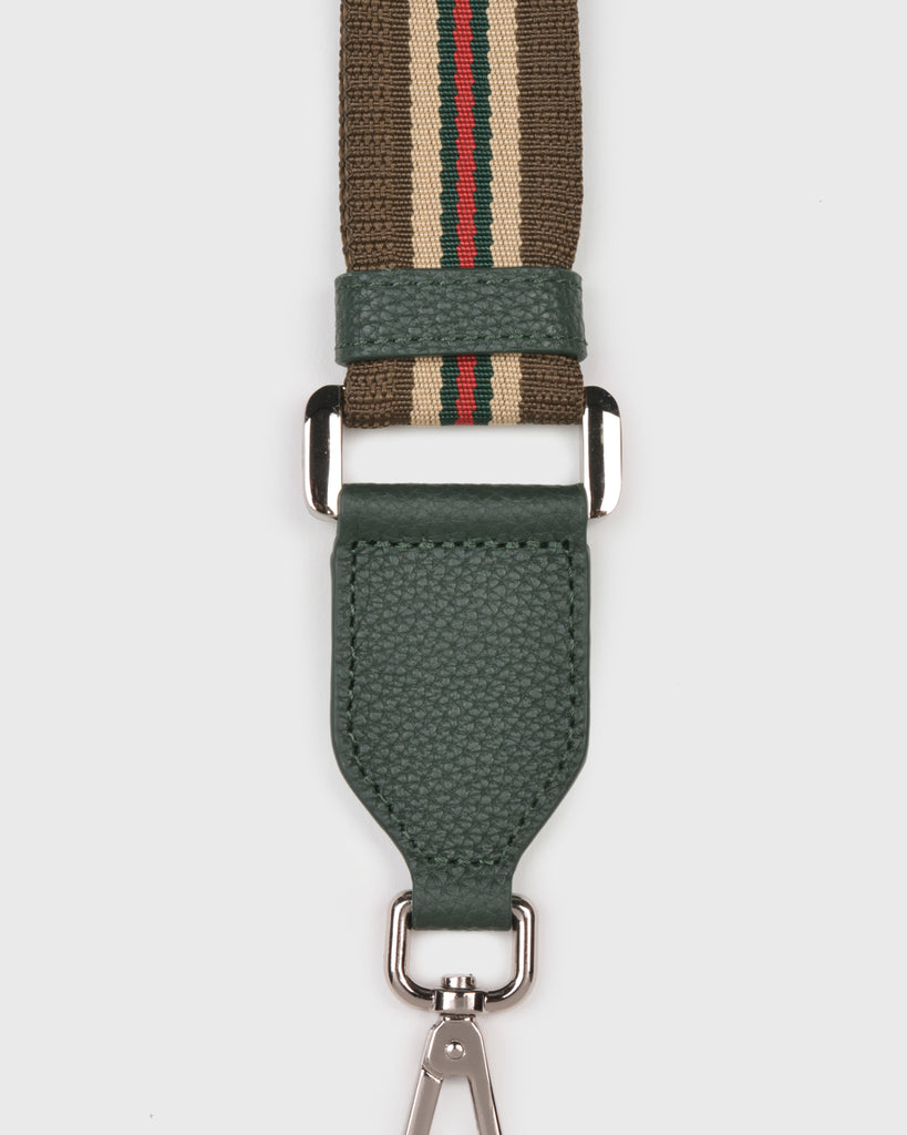 Webbing Bag Strap (Brown/Green)