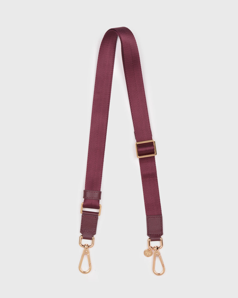Thin Webbing Bag Strap (Burgundy)
