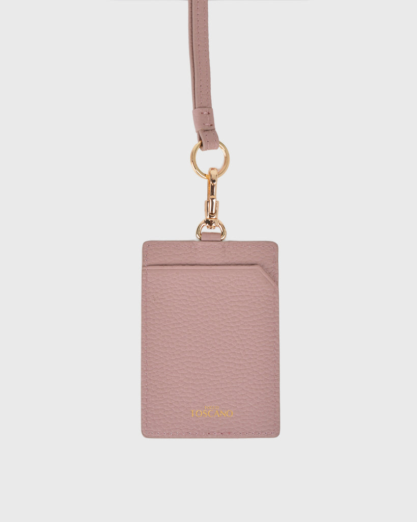 Aimee Cardholder with Lanyard (Dusty Pink)