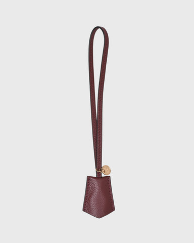 14mm Leather Wristlet Strap w/ Cone Studs (Maroon)