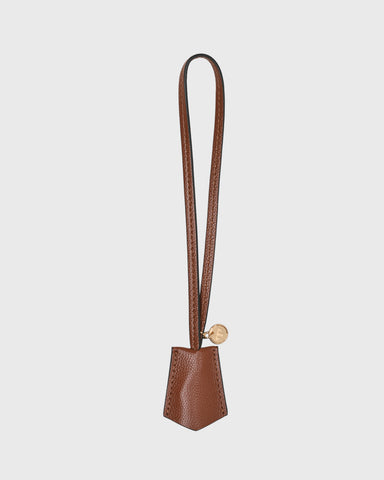 Aimee Lumine Leather Bag Charm (Camel)