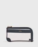 Maya Clear L-zip Pouch (Navy)
