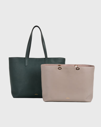 Aimee Mini Leather Tote (Grey)