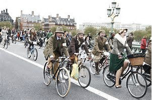 A new bike party Tweed bicycle Run