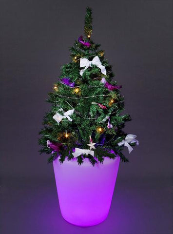 led lighted plant flower furniture containers pot
