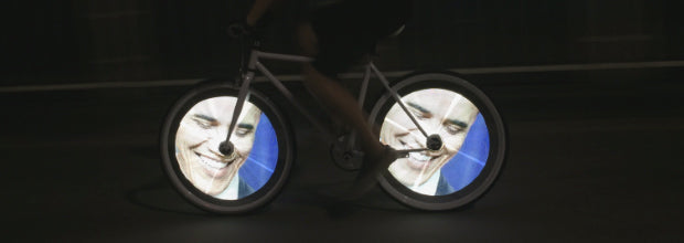 diy programmable bicycle led wheel light face