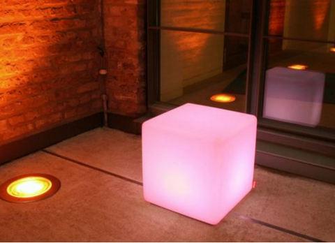 LED Cube Chair and Cushion create Innovative Seat
