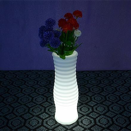 led lighted plant flower containers are suitable for indoor and outdoor use and have an energy saving lamp fitted