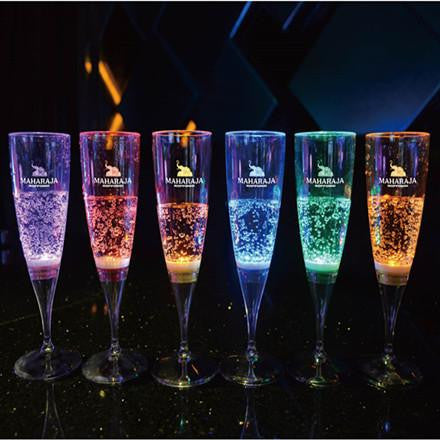 LED Wine glasses are sure to impress your guests. There are five modes to choose from: red, green, blue, white, or slow color change