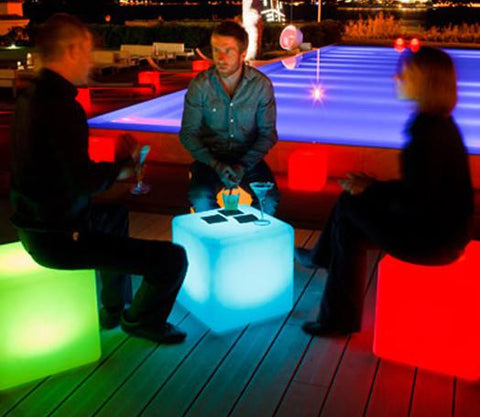 LED chair Use them anywhere – in your pool or patio, to enhance your landscaping, at parties, in the nursery, on your boat, at the lake.