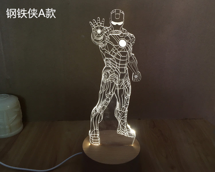 IRON MAIDEN METAL ROCK BAND 3D Acrylic LED 7 Colour Night Light Touch Lamp