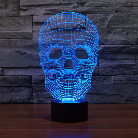 3D Deco Light Skull Skeleton Optical Illusion LED Night Light Lamp