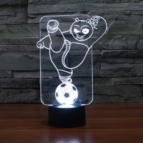 Kung Fu Panda 3D Basketball LED Night Light Table Lamp Toy Gift