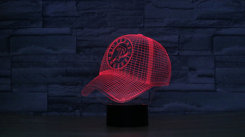 3D Effect Baseball Texas Rangers Touch Light 7 Color Changing Led Nightlight
