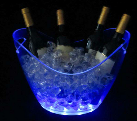 8L Luminous Logo Customized Boat Type LED Ice Bucket