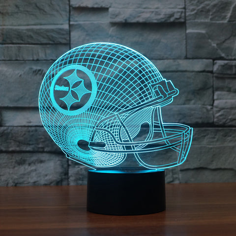 3D led logo light on helmet|Pittsburgh Steelers American football|Slong light gifts