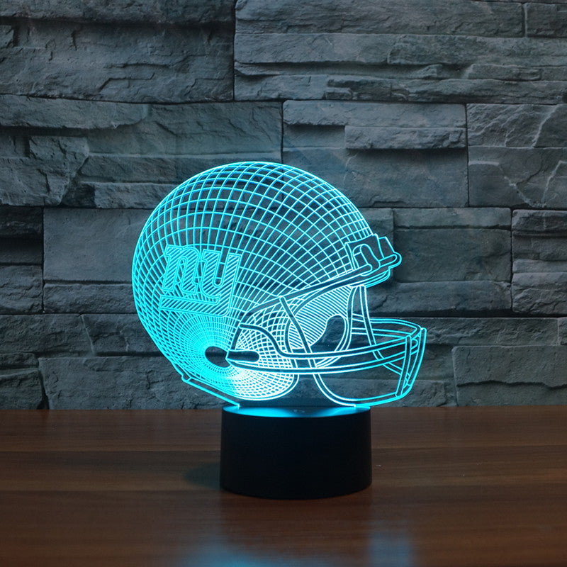NFL New York Giants 3D Night Light 7 Color Change Lamp Big Size FREE SHIPPING