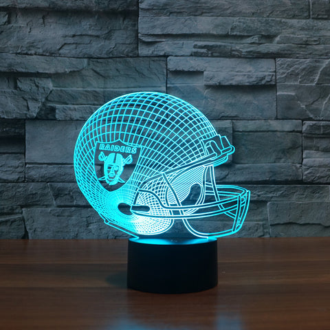 3d led Oakland Raiders football cap|slong light gift furnitures