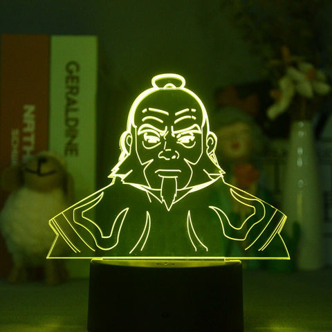 3d Bluetooth Control The Last Airbender Iroh Japanese Anime Avatar Bright Base Atmosphere Lamp for Table Decor LED Gift Lighting