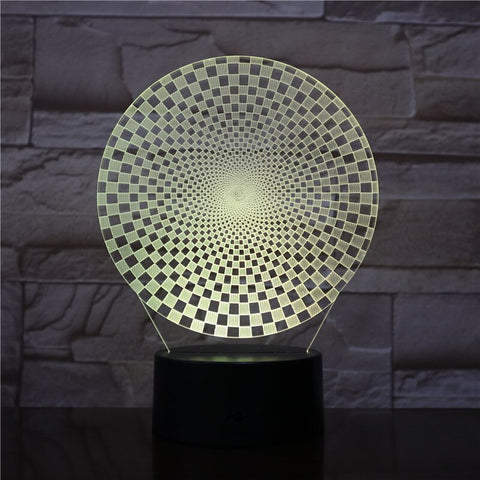 3D Lamp Abstract Geometry 7 Color with Remote Visual Light Effect Personalized Gift for Children Led Night Light Lamp Atmosphere