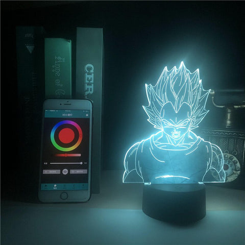 Dragonball Super Saiyan Bejita Smart Phone Control 3D Lamp Yonsei Touch Sensor Wall Lamp Touch Sensor Children's Personalized