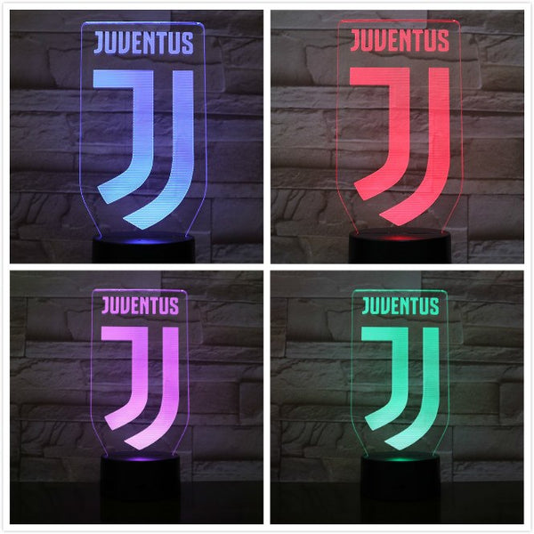 Serie A Team Juventus Football Club Desk Lamp Boys Child Kids Fans Birthday Gifts Soccer Usb 3d Led Night Light Bedroom neon