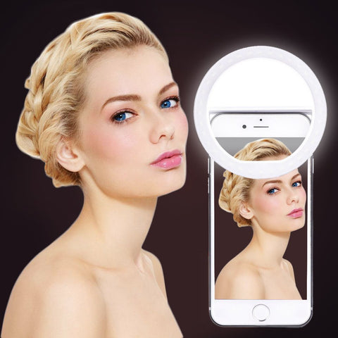 10PCS Rechargeable USB Led Selfie Ring Light Portable Flash Camera Photography Novelty Lighting For i Phone ring light Selfie