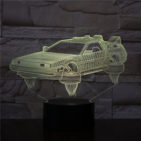 3D Lamp Back To The Future Vehicle Car Novel Present for Movie Fans Bright Base Atmosphere Dropshipping Led Night Light Lamp
