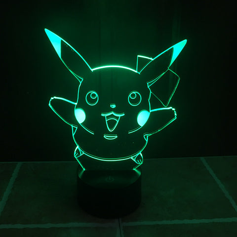 Great gift for displaying|Slong Lamps Pikachu 3D LED Illusion Lamp
