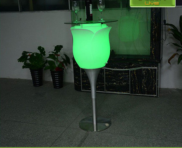 Rechargeable colorful LED huge Rose flower floor lamp – LU QING WEN