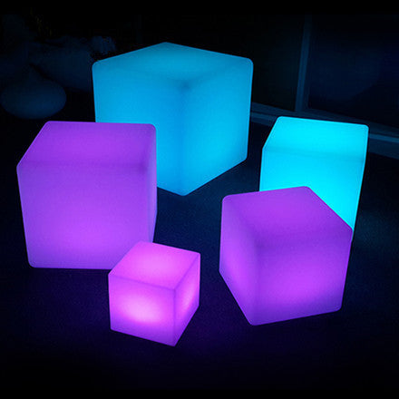 Led Light Cube Chair Rgb Color Change Landscaping Bar