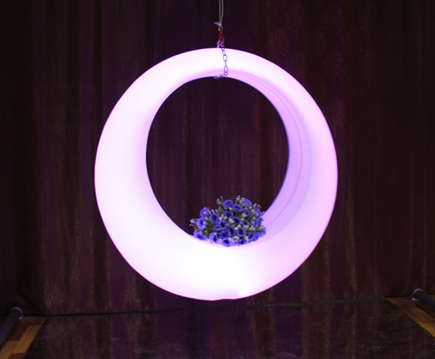 Diameter 150cm 59in LED colorful light Swing waterproof