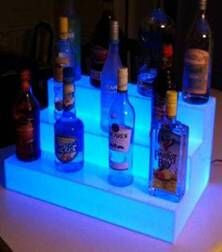 LED Three Step Bars Shelves Holder