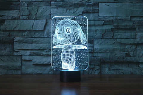 3d  Lovely Rabbit Touch Table Lamp 7 Colors Changing Desk Lamp Lamp Novelty Led Night Lights Death Star Led Light Drop Ship