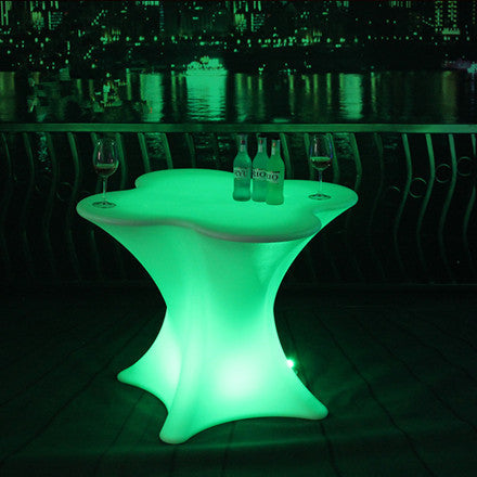 Single Pedestal LED Table