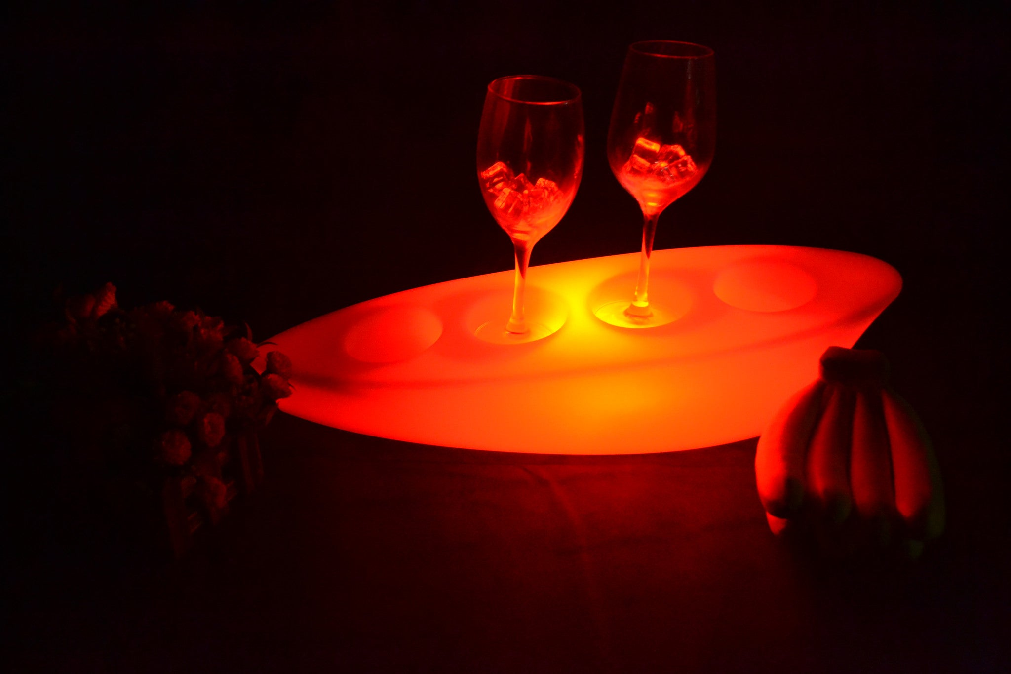 Waterproof illuminated Multi Colors LED floating Champagne Champagne B – LU QING WEN