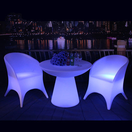 colorful changing plastic led armchair blue