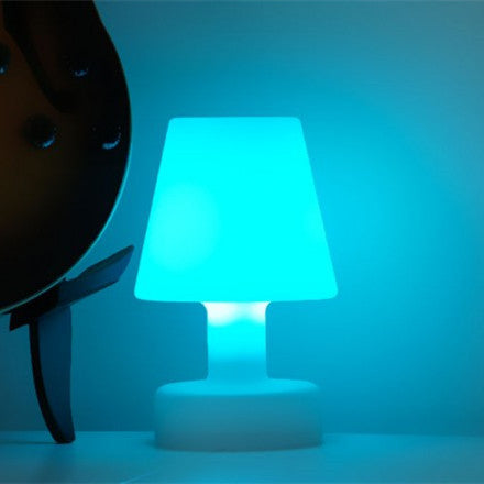 colorful rechargeable led glowing table light