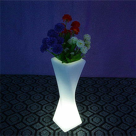 colorful twist pillar led flower pot