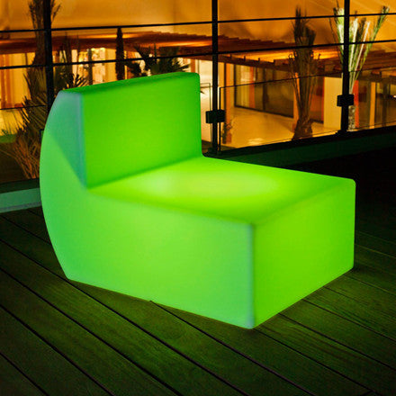 combination led sofa chair green